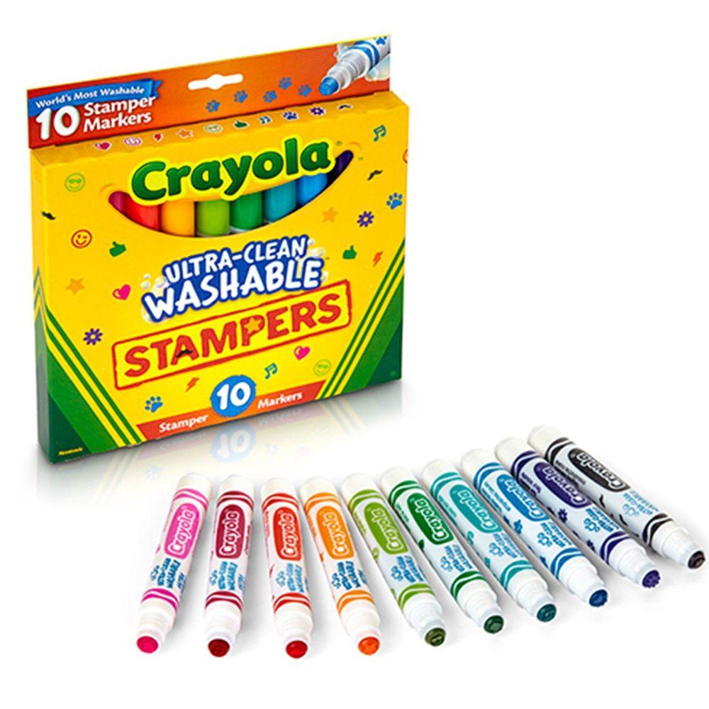 Crayola繪兒樂 - 可水洗印章色筆10色