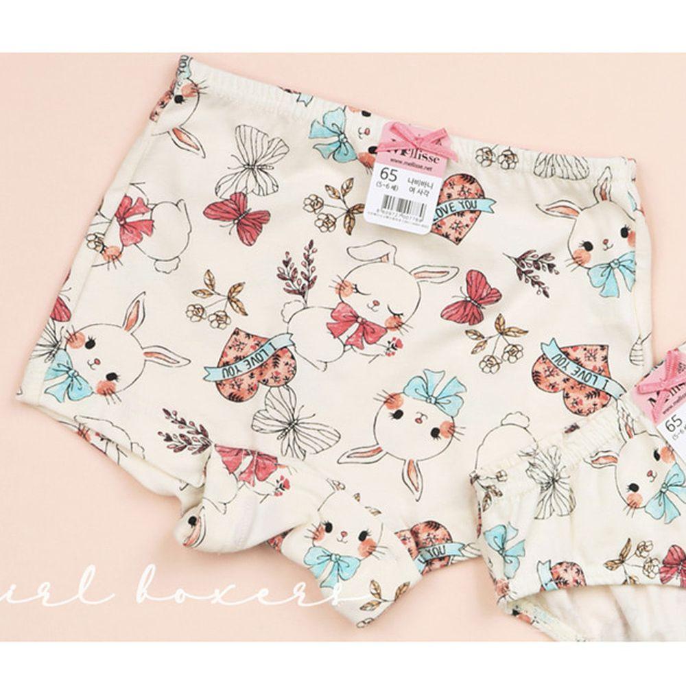 韓國 Mellisse - 純棉四角褲(女寶)-蝴蝶小兔