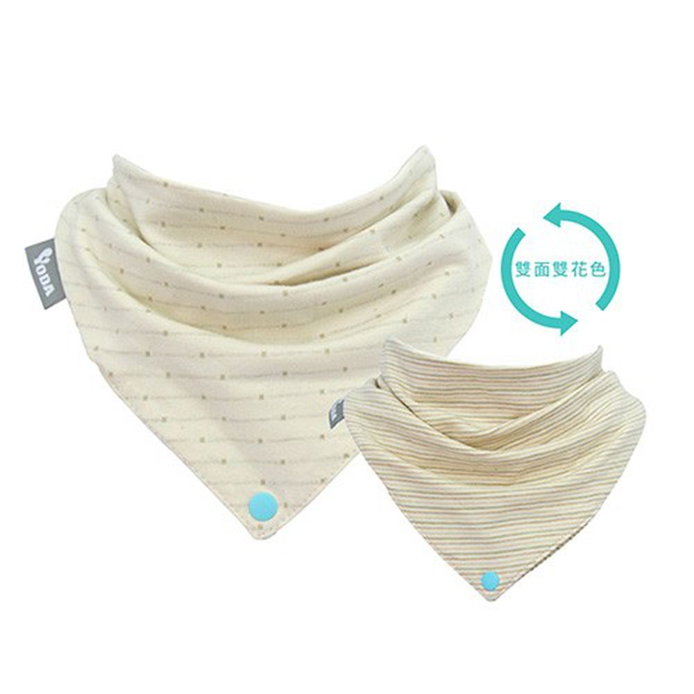 YODA - organic cotton有機棉扣扣兜-清新點點
