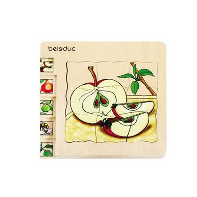 多層木拼圖-蘋果