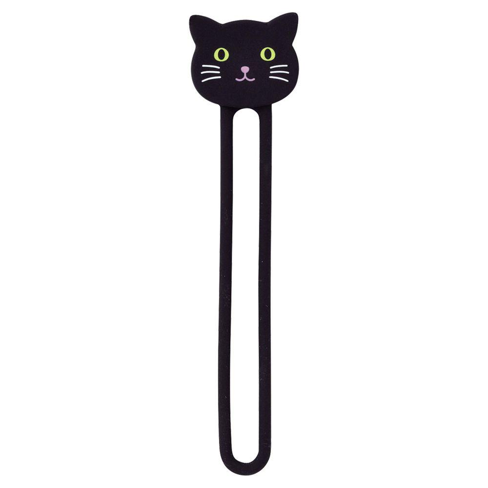 日本 LIHIT LAB - 多功能磁鐵收納繩兩入組-黑貓 (2.2x9cm)