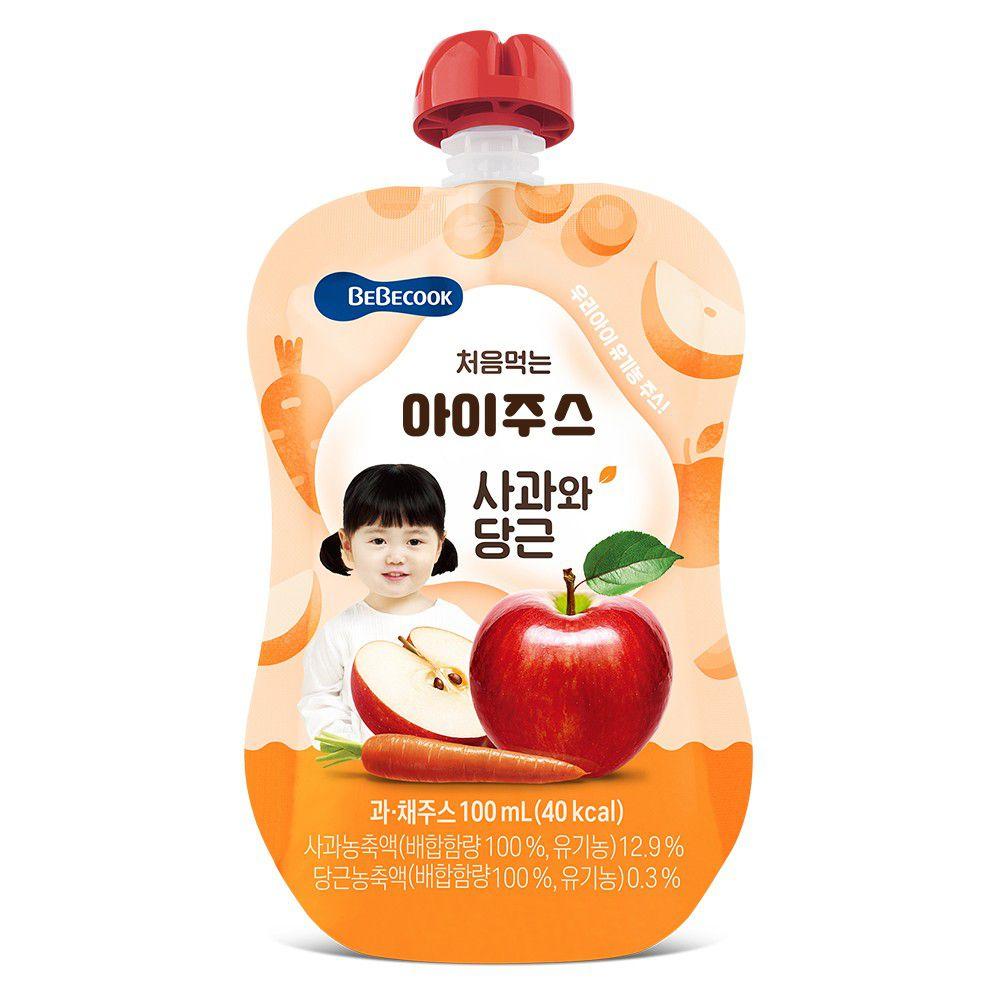 BEBECOOK 寶膳 - 智慧媽媽 嬰幼兒蘋果紅蘿蔔汁(7M以上)
