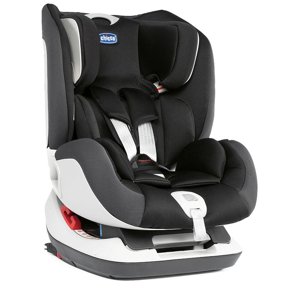 義大利 chicco - Seat up 012 Isofix安全汽座-搖滾黑