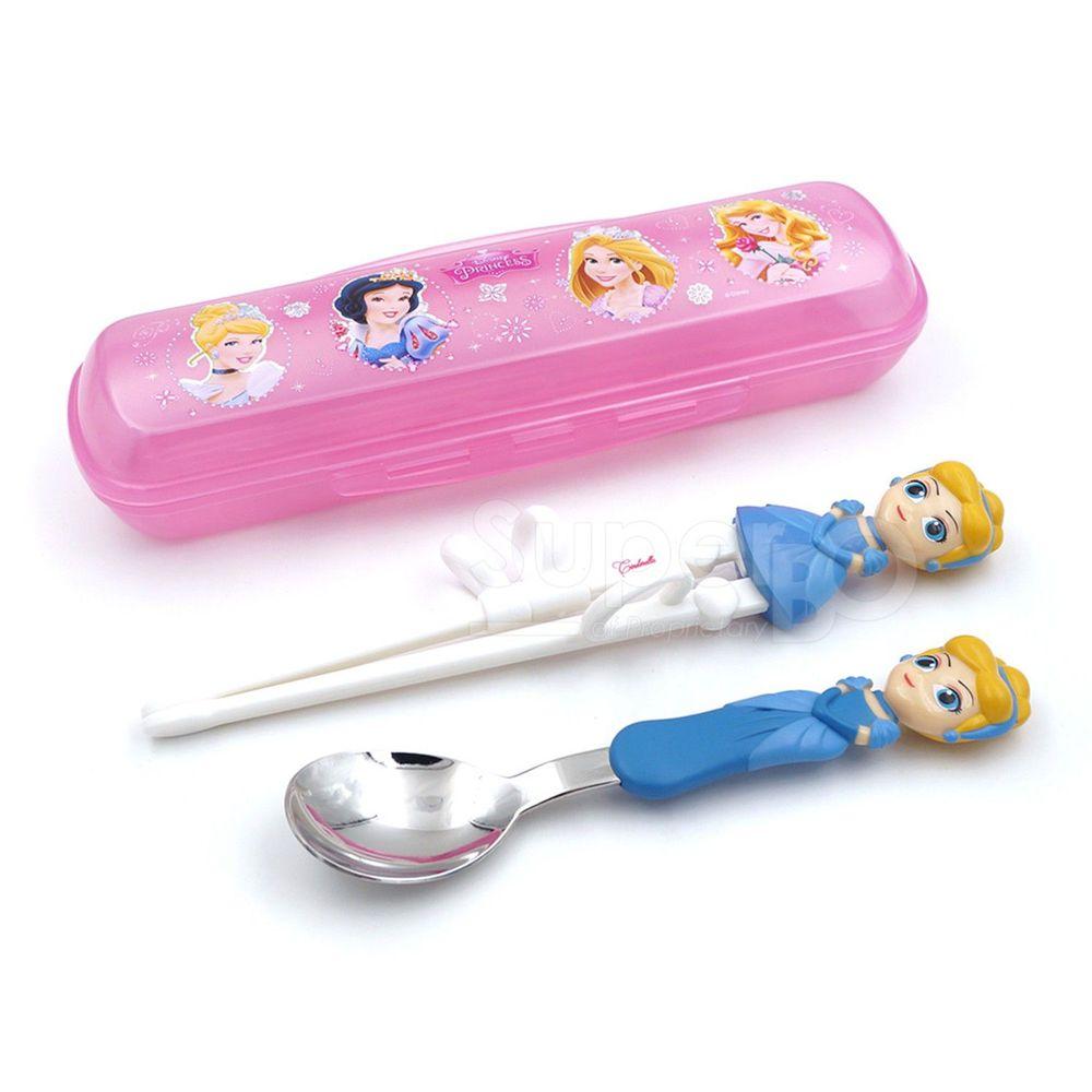 Disney - 3D學習筷湯匙組-灰姑娘(附盒)