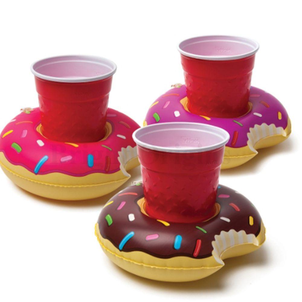 美國 Big Mouth - 造型飲料杯游泳圈-甜甜圈款