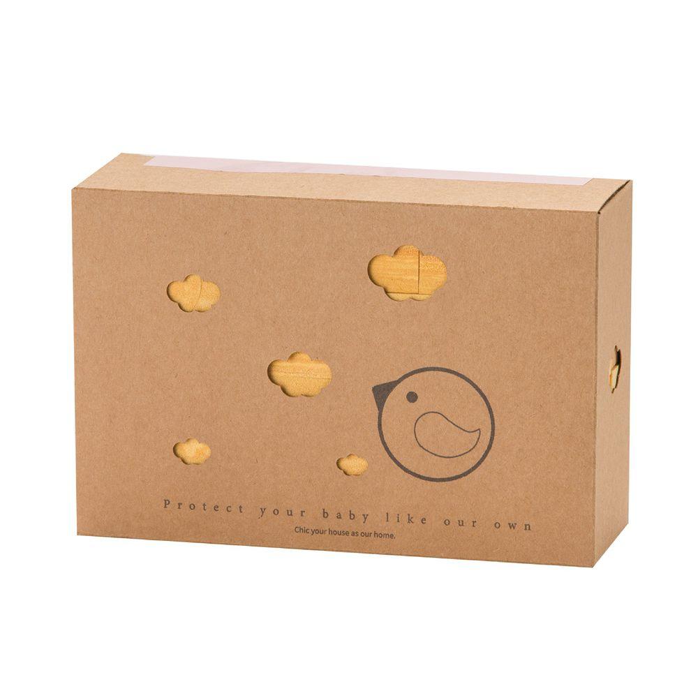 akachan honpo - 假裝是木頭的軟積木 17PCS-芥末黃色