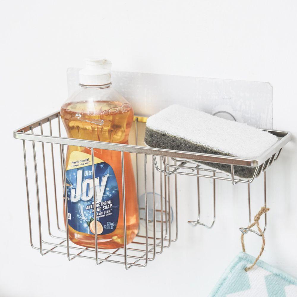 完美主義 Peachy Life - 台灣製304不鏽鋼沐浴乳肥皂架-SquareFix霧面無膠痕