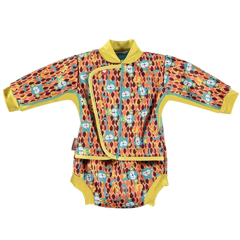 英國Pop-in - 嬰兒抗UV連身保暖泳衣-提奇猴