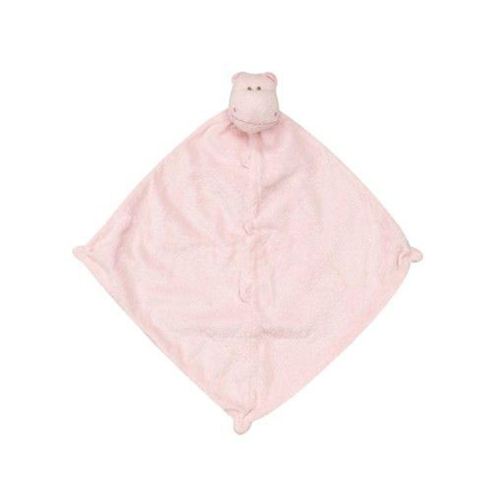 美國 Angel Dear - 動物嬰兒安撫巾-粉紅河馬