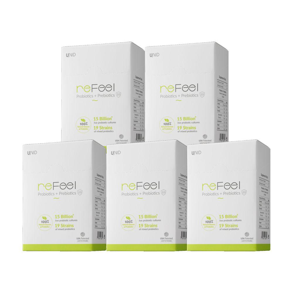 美國 UNID - reFeel益生菌(家庭組)-30入/盒x5盒
