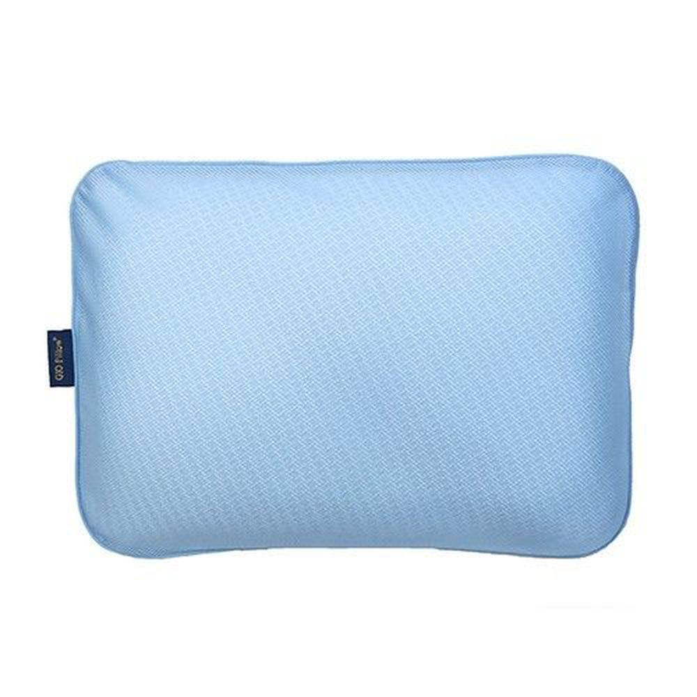 韓國 GIO Pillow - 超透氣防螨兒童枕頭-單枕套組-藍色 (L號)-2歲以上適用