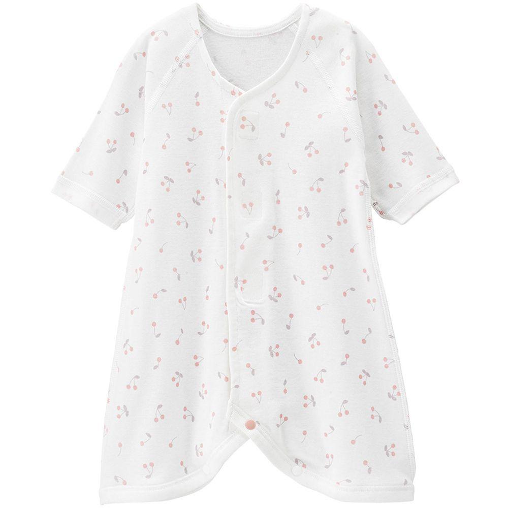 日本 Combi - mini系列-純棉蝴蝶裝(黏貼式)-小櫻桃 (60-70)
