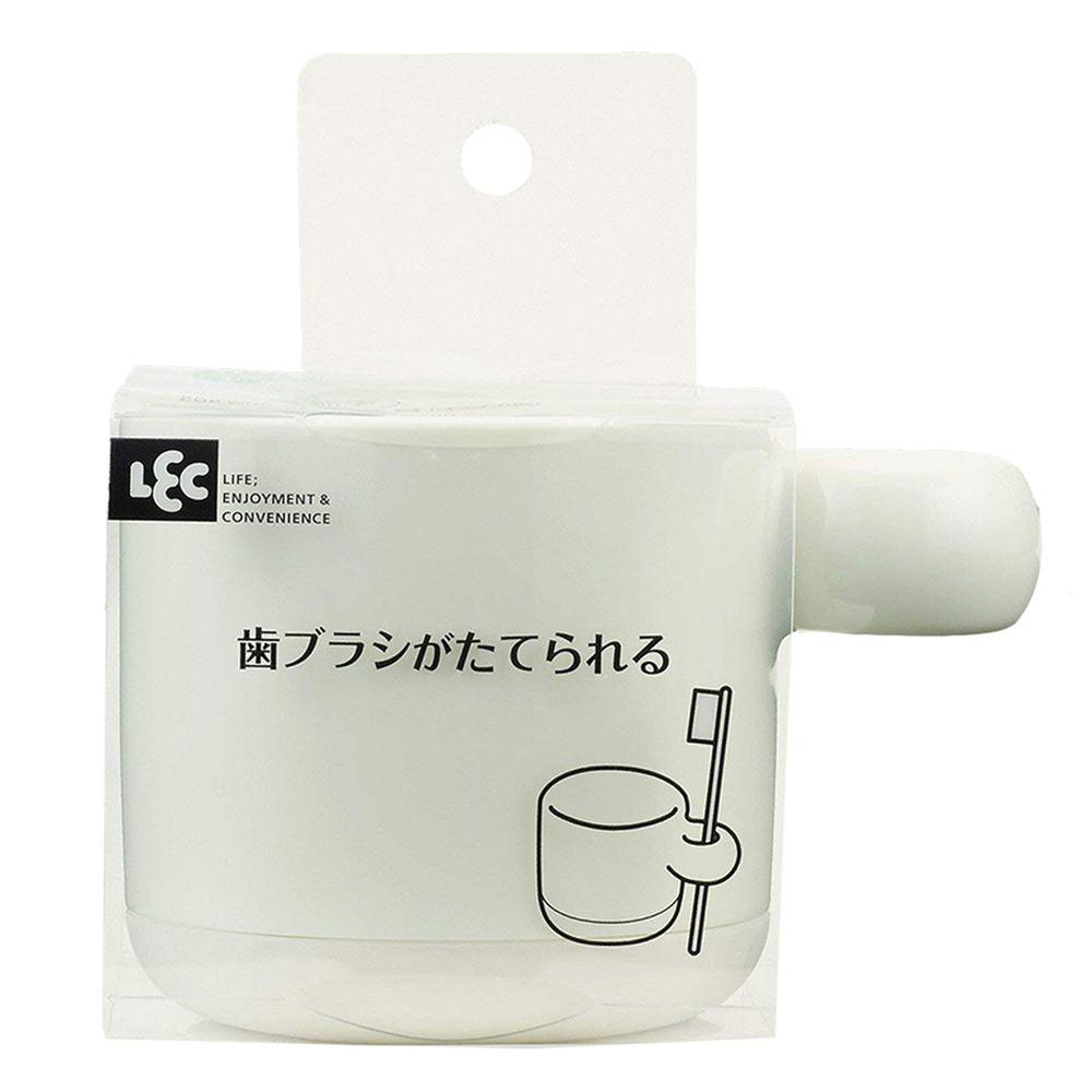 日本 LEC - 可立牙刷漱口杯-白-1入