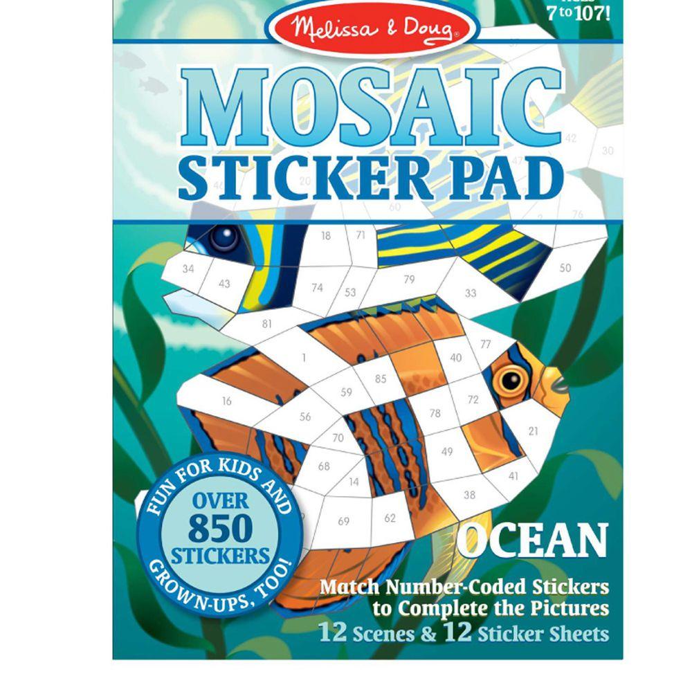 美國瑪莉莎 - MD貼紙簿-數字馬賽克貼-海洋生物