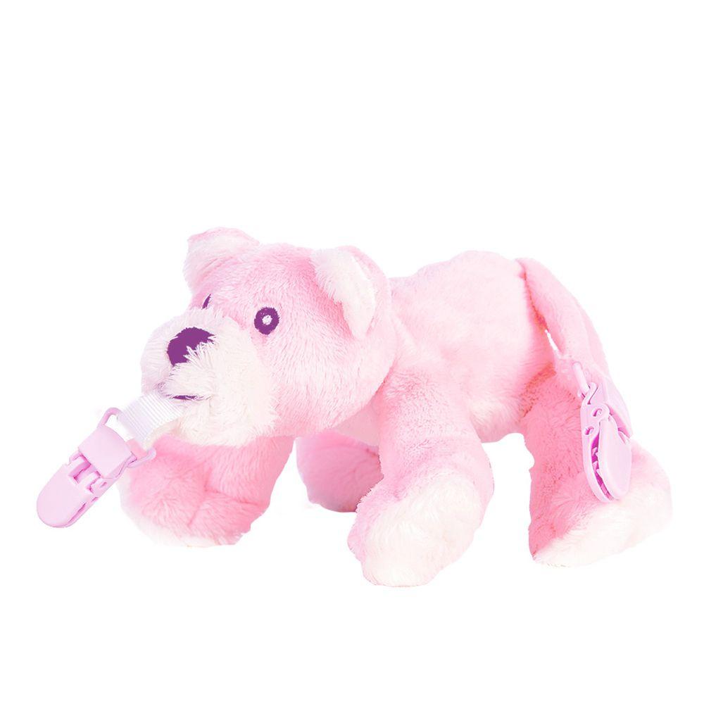 Snuggle 史納哥 - 娃娃奶嘴夾-小粉熊
