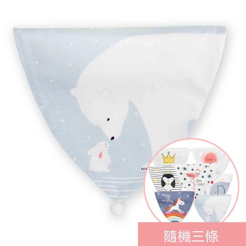 荷蘭 Muslintree - 嬰兒吸汗巾墊背巾-4條入-冰雪奇緣+隨機3條