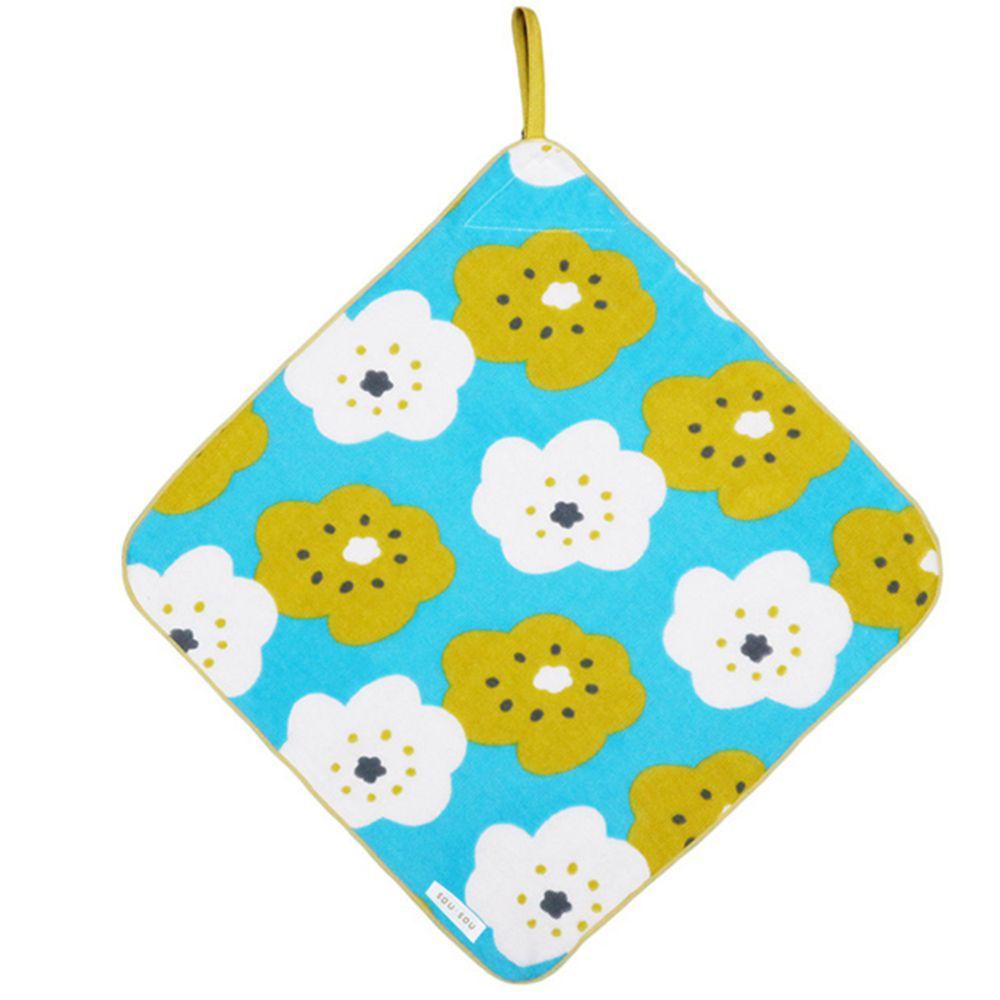 日本代購 - 【SOU·SOU】日本製今治純棉擦手巾-黃白花 (32x32cm)