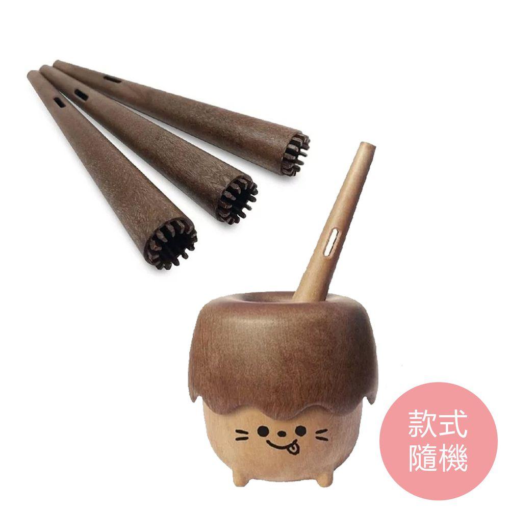 韓國 Mother's Corn - 小木森林兒童泡泡玩具(款式隨機)+小木森林兒童專用吹具3入組