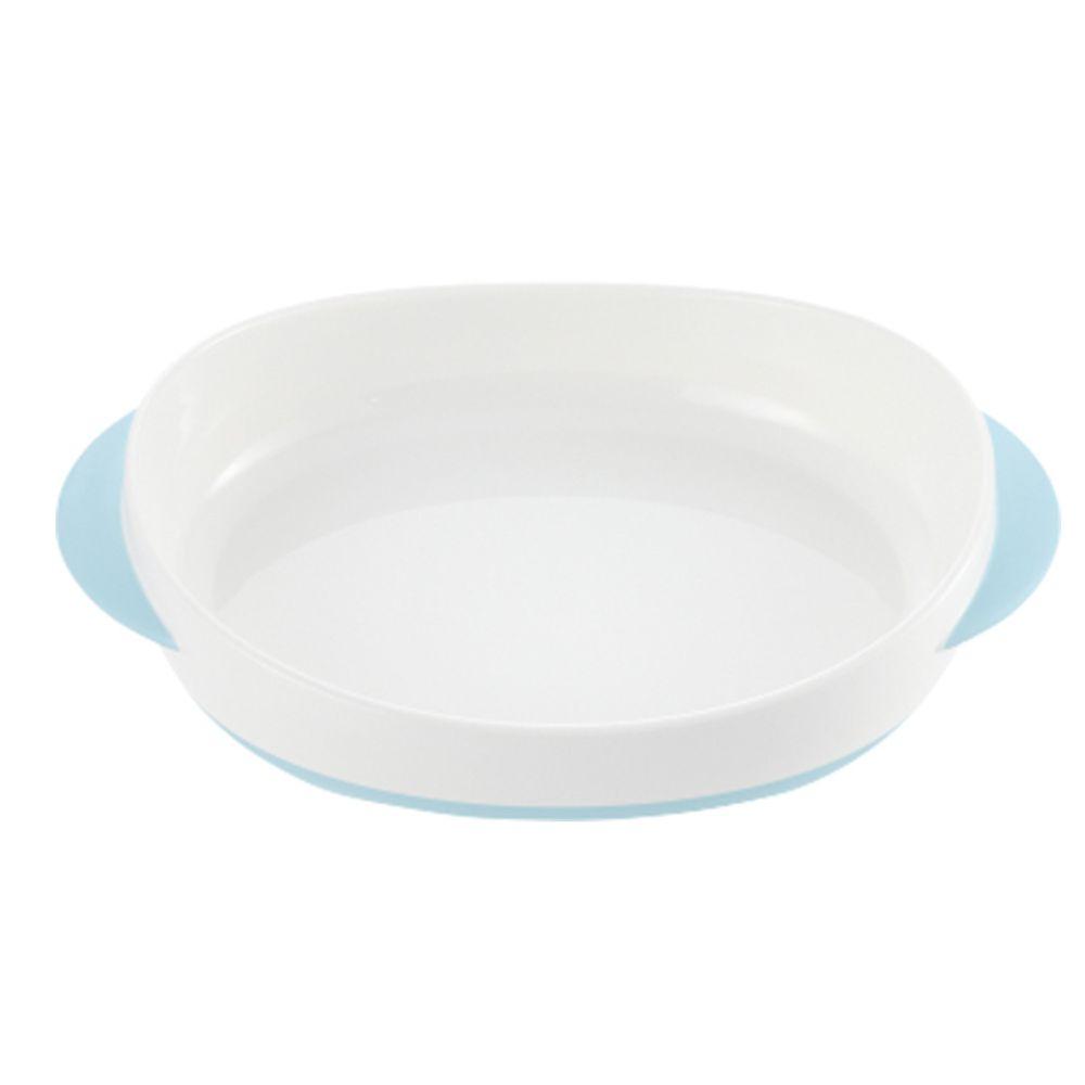 日本 Richell 利其爾 - TLI餐盤(單)-藍/白