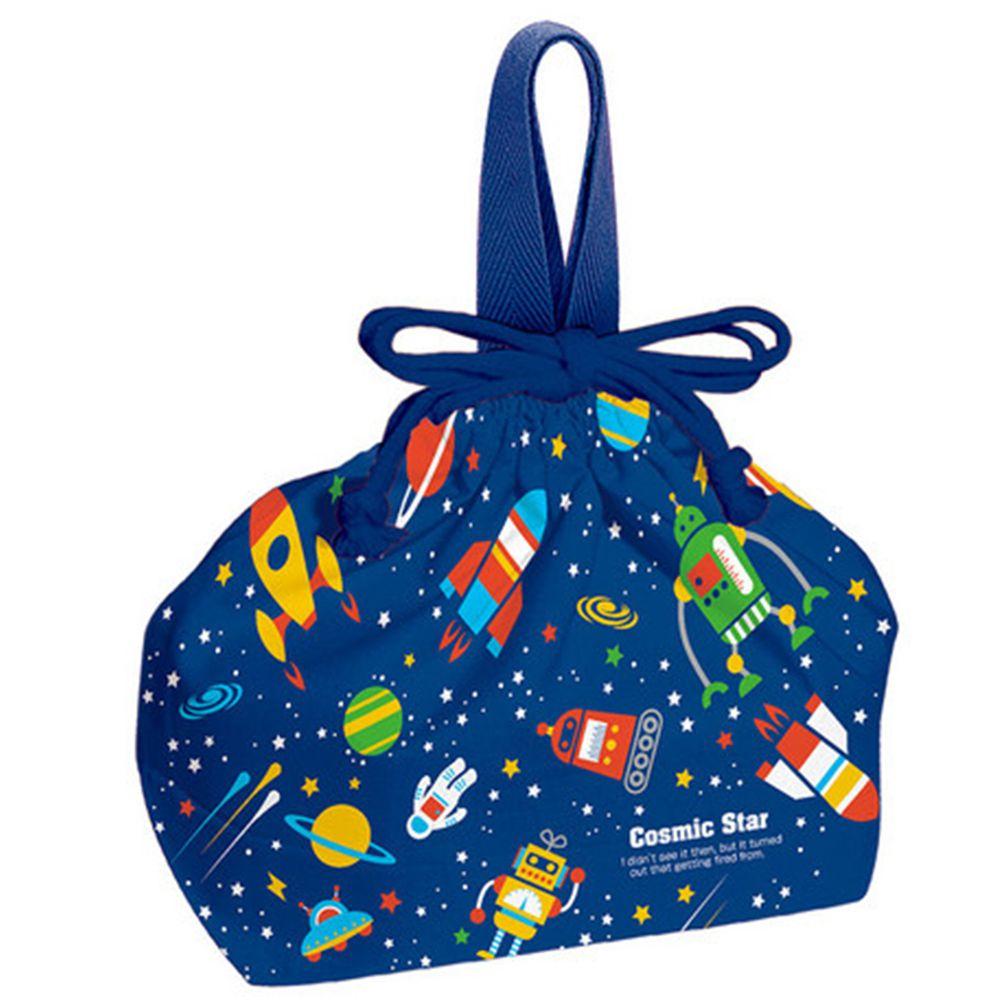 日本 SKATER 代購 - 日本製純棉束口手提袋-宇宙旅行 (29x16.5x12cm)-KB7