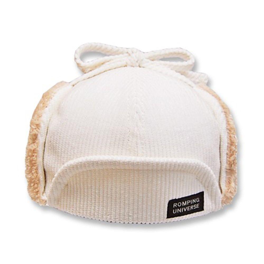 日本 ROMPING UNIVERSE - 可愛保暖帽-小童款-飛行帽_杏色-93-2009
