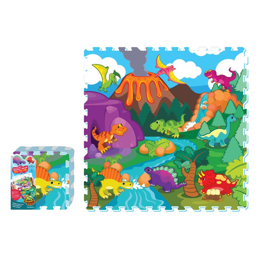 Sunta - 彩色印圖拼接墊-恐龍世界 (32x32cm)-9片