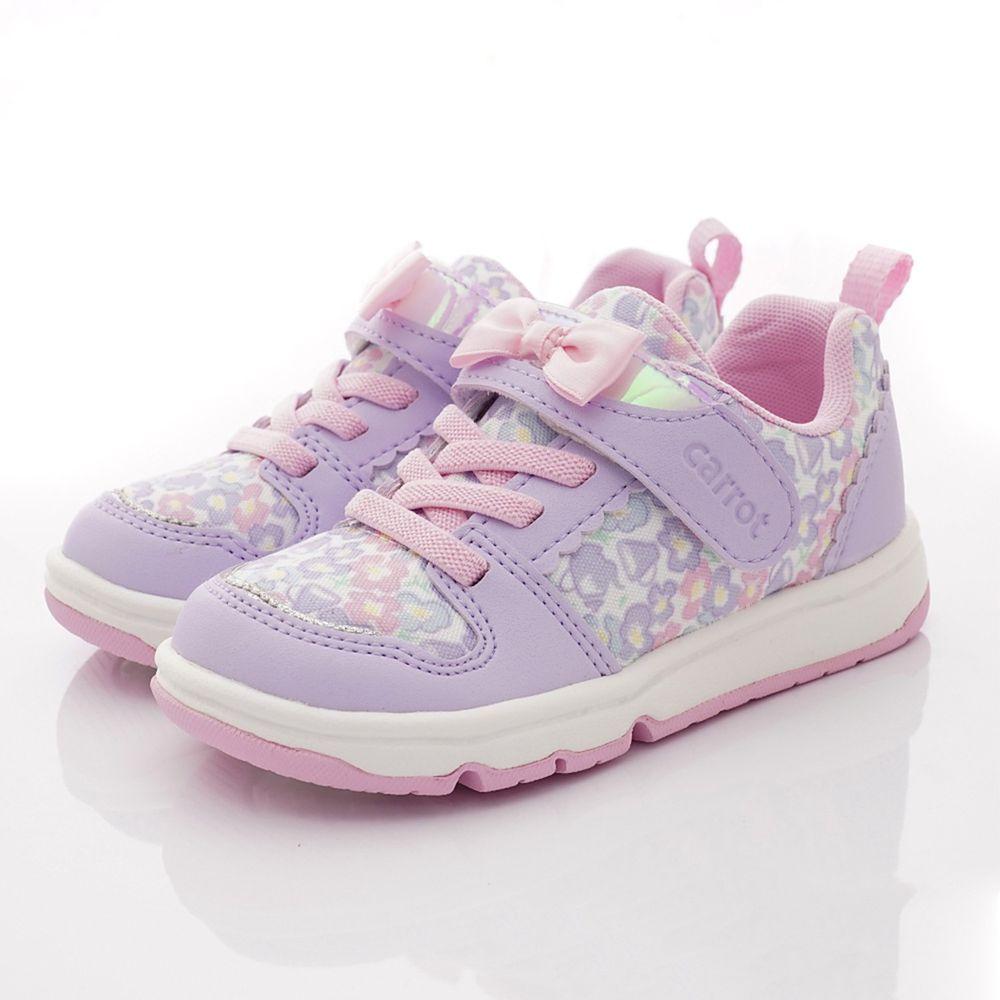 Moonstar日本月星 - 炫彩花樣玩耍機能童鞋-小童段-紫