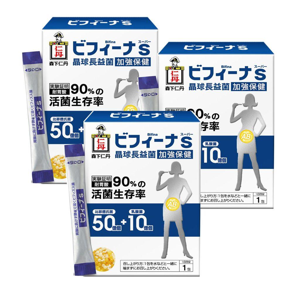 日本森下仁丹 - 50+10晶球長益菌-加強保健3盒組(30條/盒)-暢銷款3盒組