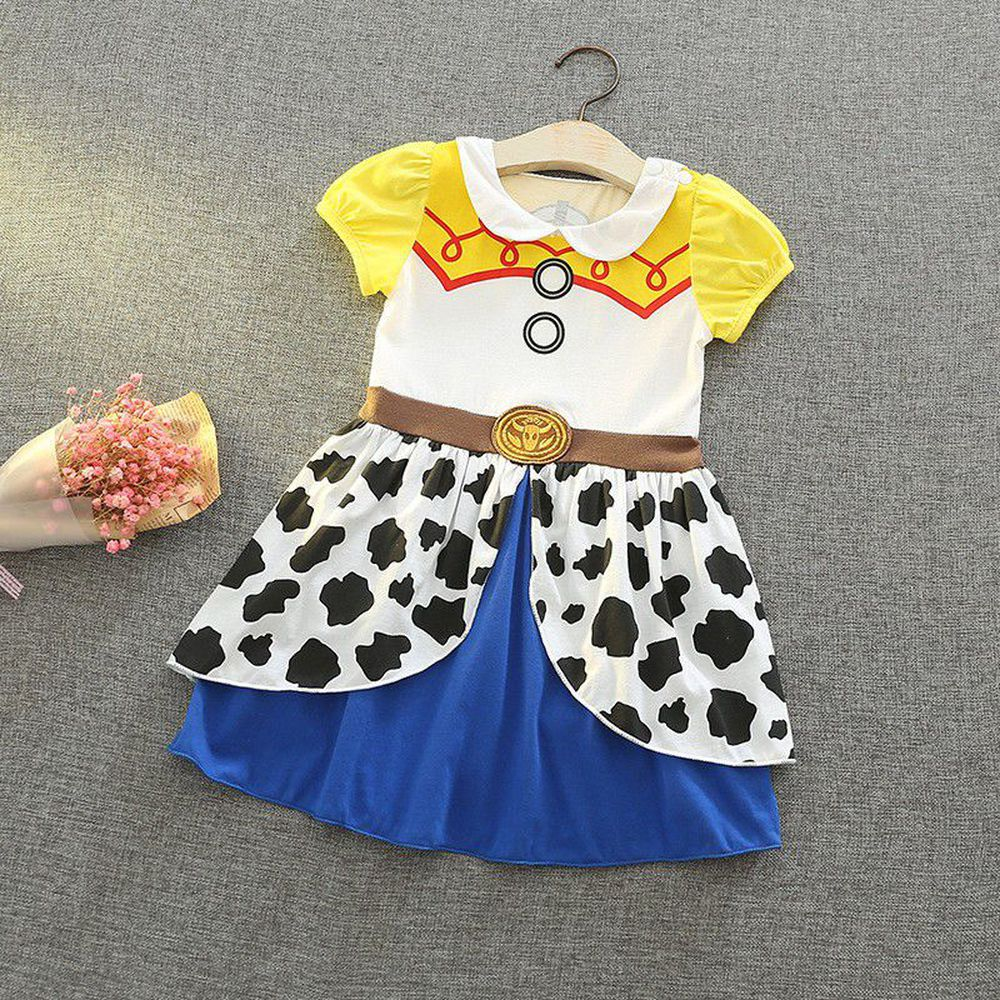 短袖造型公主裙-可愛牛仔