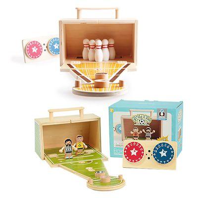遊戲派對-趣味木頭玩具箱-保齡球&足球踢踢