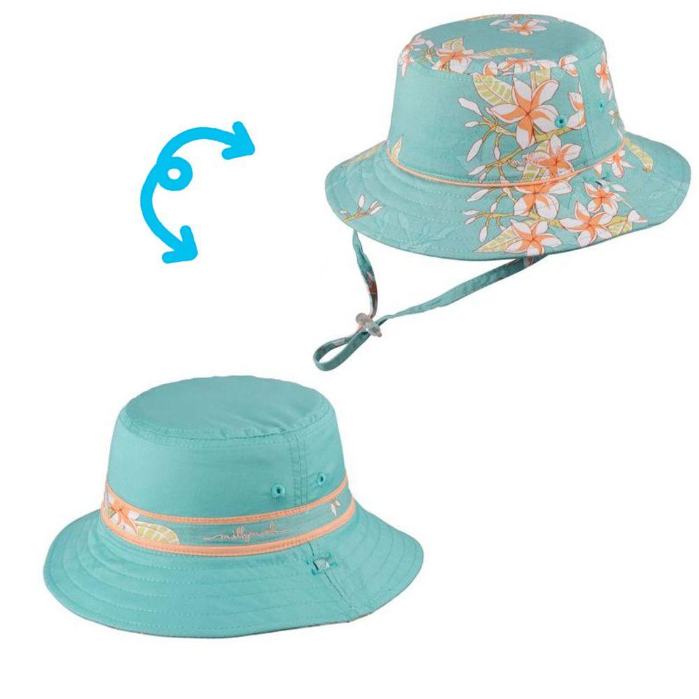 Millymook & Dozer - 藍底梔子花雙面漁夫帽