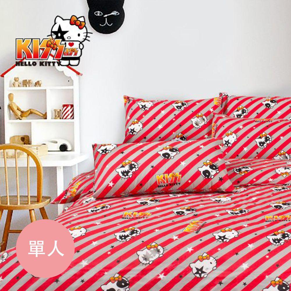 伊尚厚 YSH - Hello Kitty 線條 床包冬夏兩用被-單人三件組-3.5x6.2尺