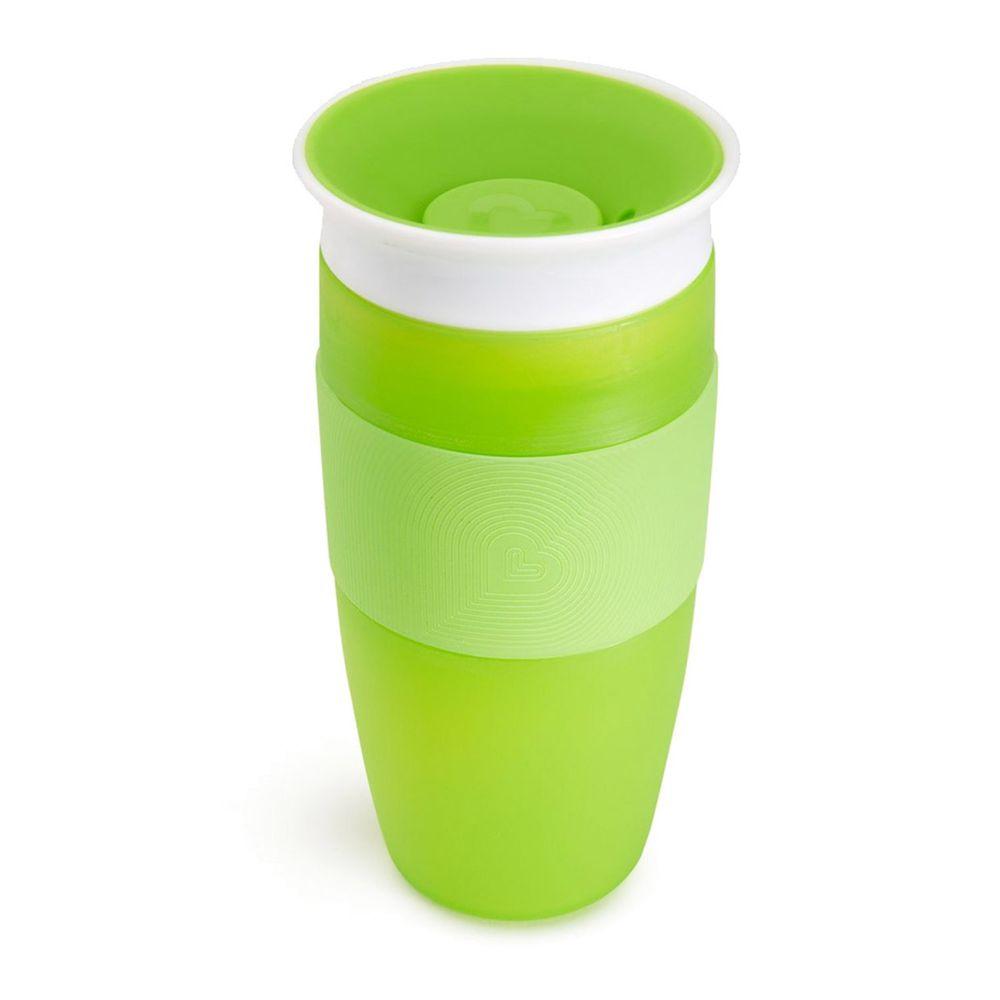 美國 munchkin - 360度防漏杯414ml-綠