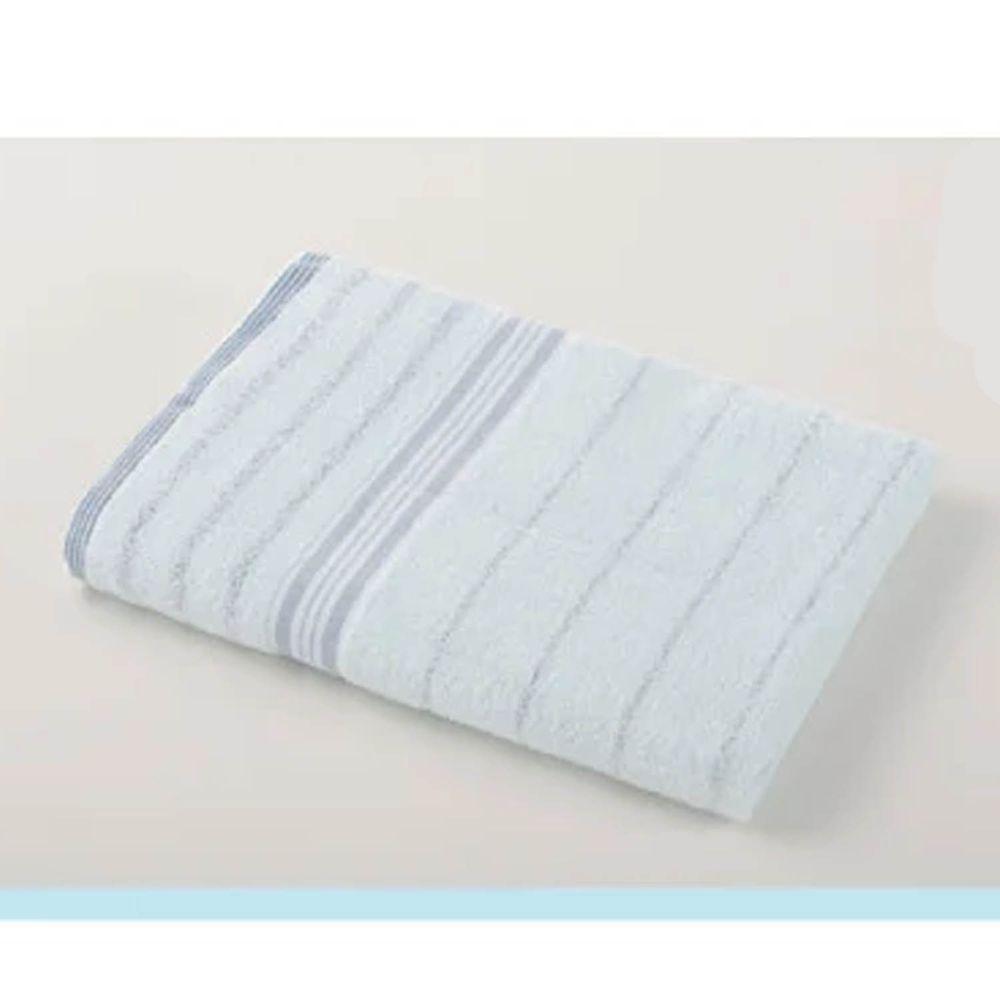 貝柔 Peilou - 高級純棉大浴巾-條紋系列-粉藍 (60x137cm)-2入組