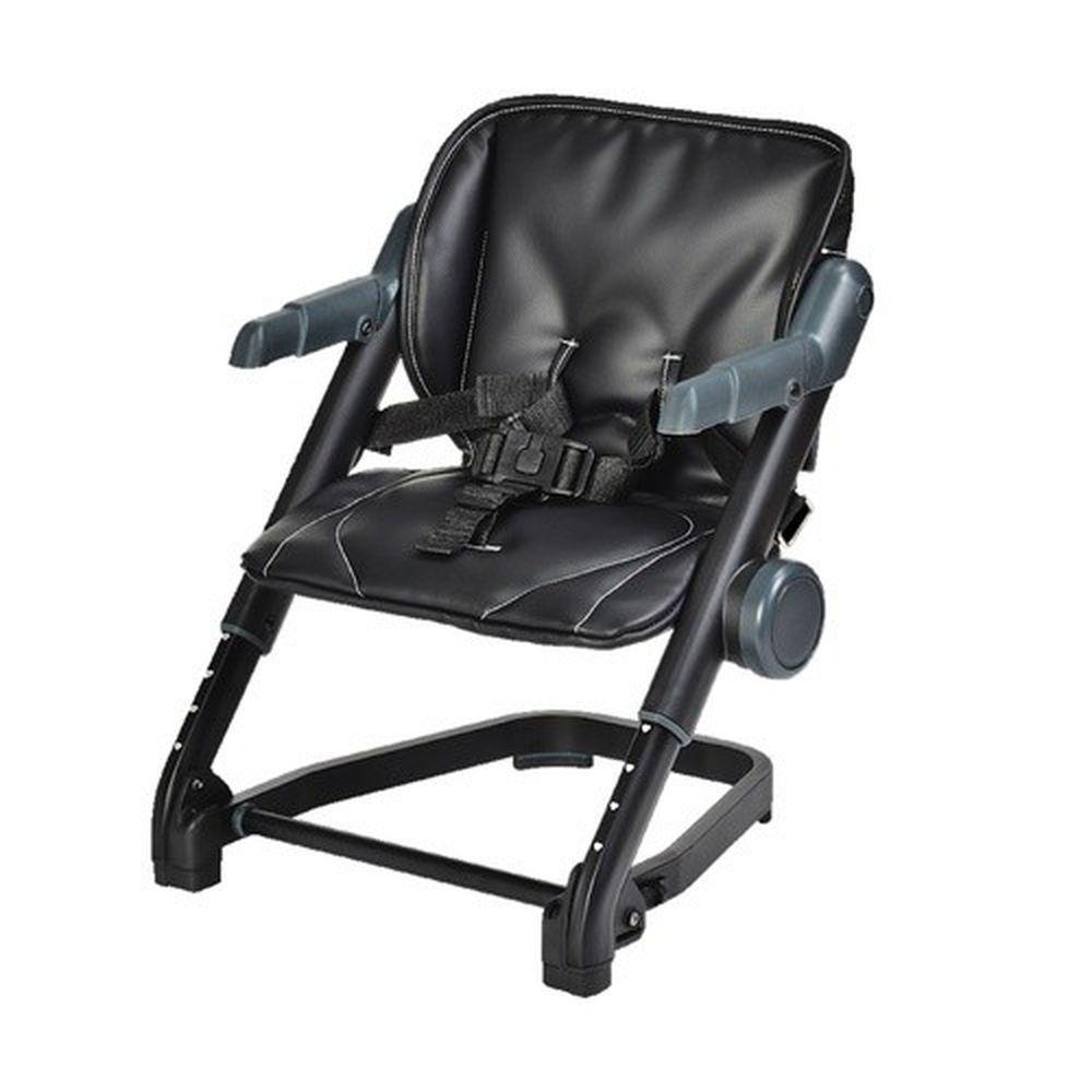 英國 Unilove - 攜帶式寶寶餐椅-黑糖珍珠黑