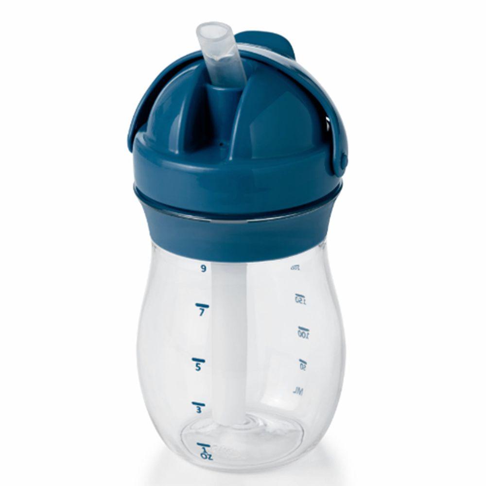 美國 OXO - OXO tot 寶寶啾吸管杯-海軍藍 (250ml)