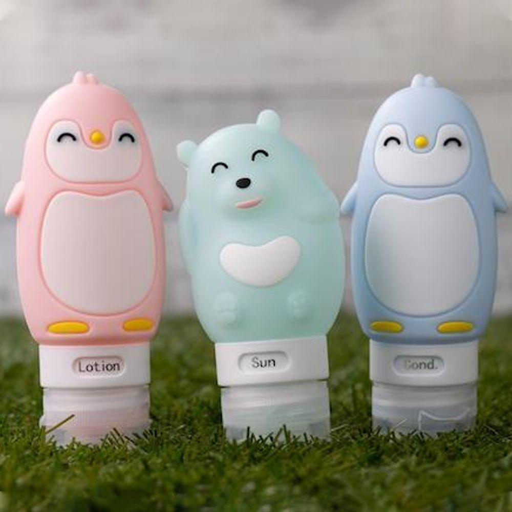 仁舟淨塑 - 矽緻洗浴分裝瓶-南企鵝系列-南極款