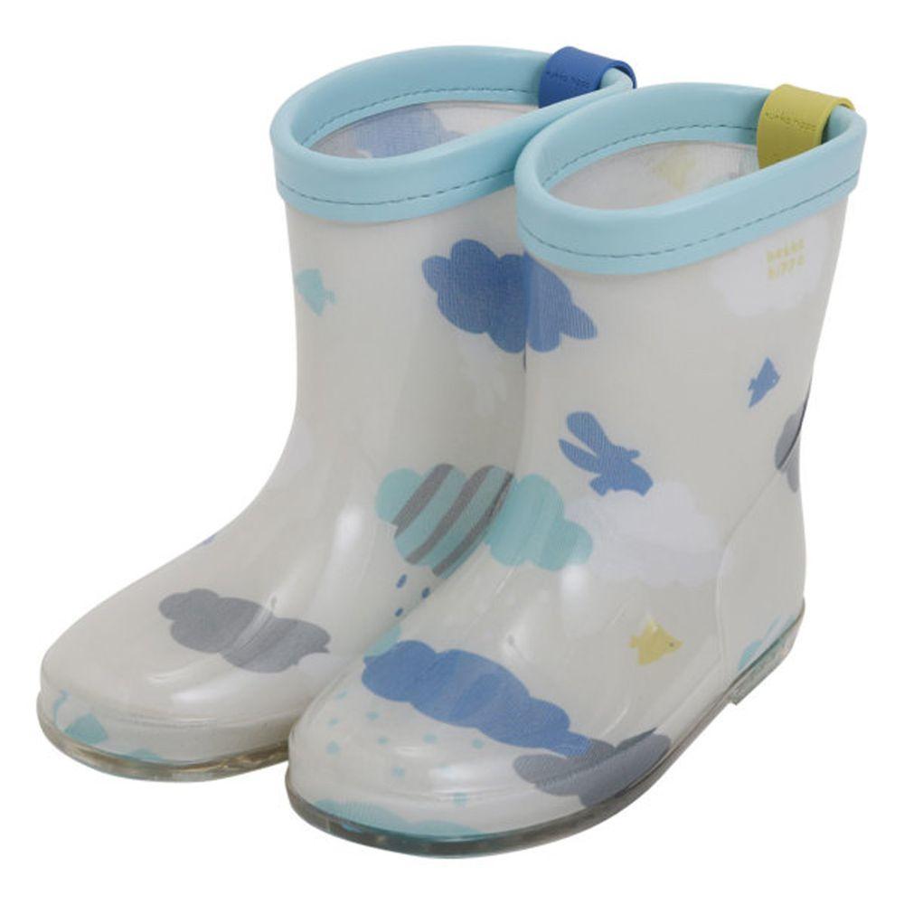 日本 kukka hippo - 小童雨鞋-雲朵飄飄