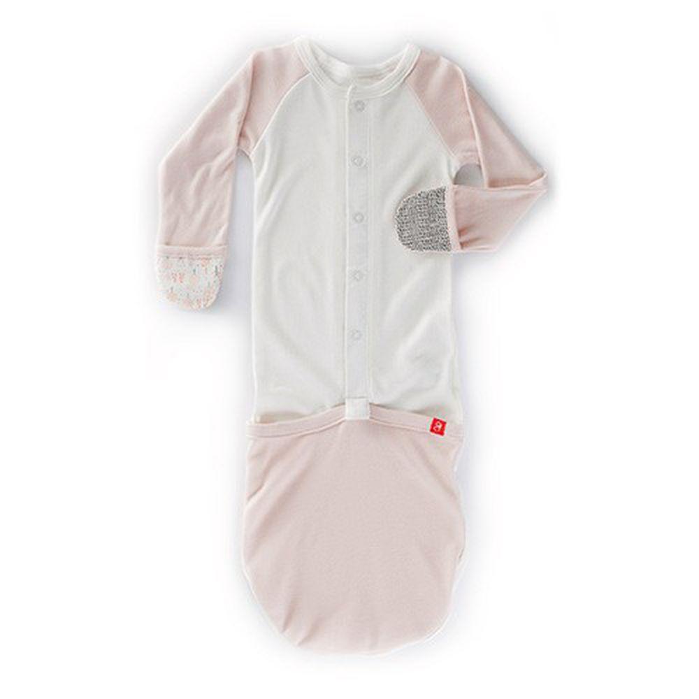 美國 GOUMIKIDS - 有機棉嬰兒睡袍-魔法森林-橘色 (0-6m)