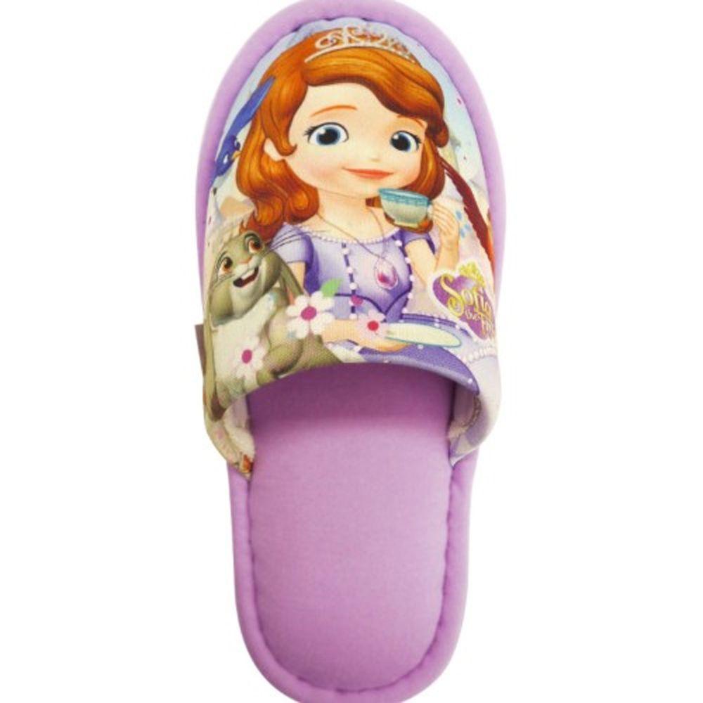 日本千趣會 - 兒童室內拖鞋-索菲亞-紫 (18cm)