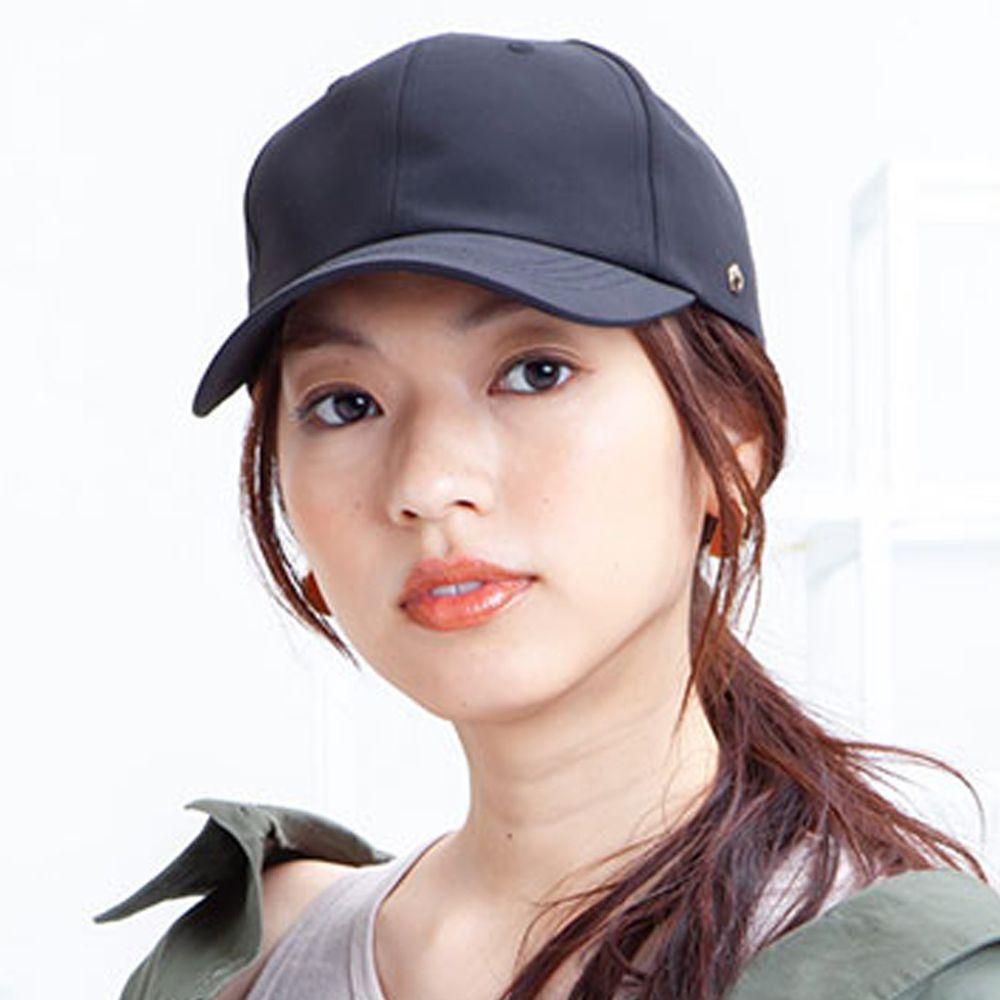 日本 irodori - 【irodori】防潑水撞色束帶棒球帽-黑X橘 (M(57.5cm))