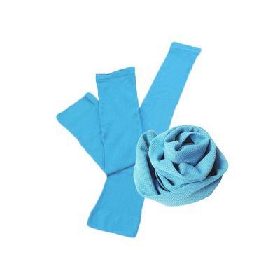 酷涼巾+冰涼袖套-藍