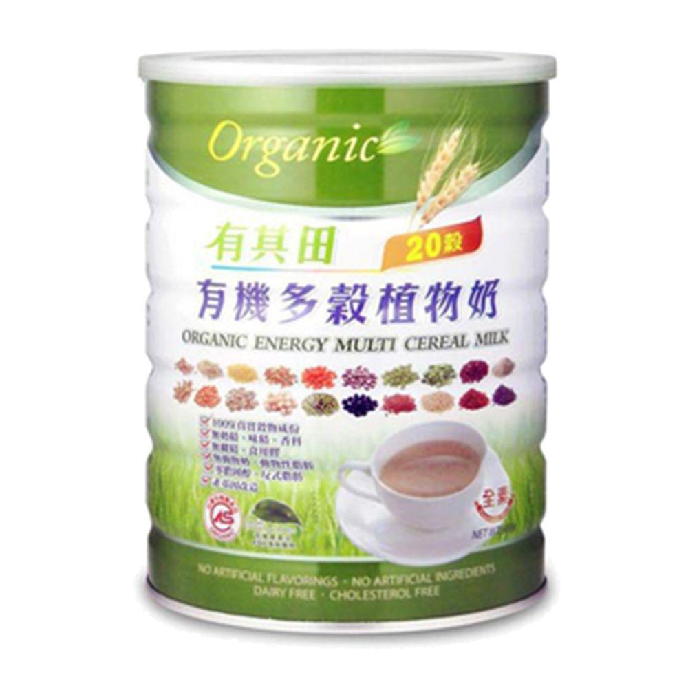 有其田 - 有機20穀植物奶原味x1罐(900g/罐)-家庭號20穀入門款