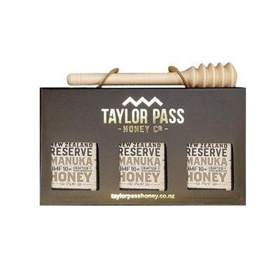 活性麥蘆卡蜂蜜禮盒 UMF10+-贈 實木蜂蜜棒(北美楓木)價值250元-375gm*3