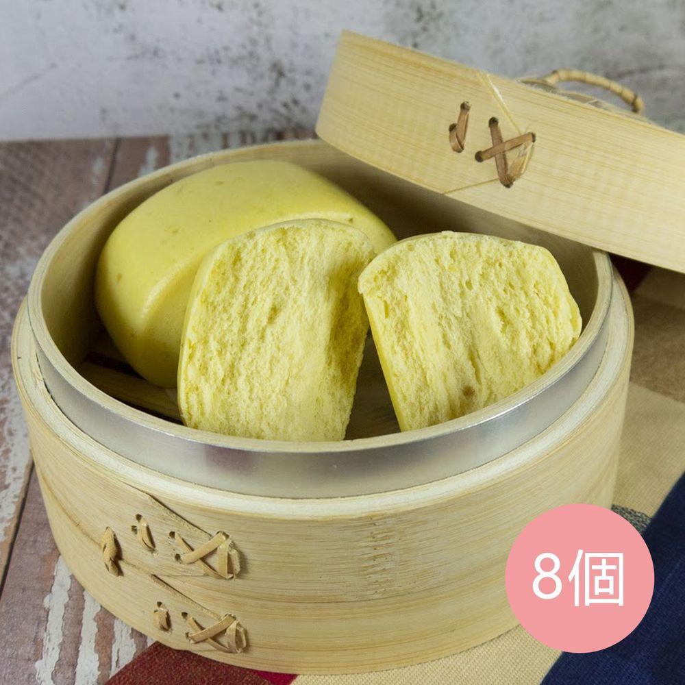 艾酷奇 - 南瓜有機豆漿饅頭-(8入/袋)-(全素)-70g±5%