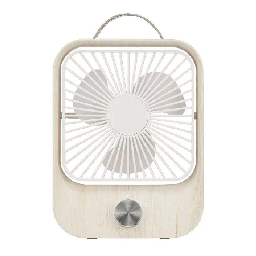 KINYO - 木紋質感靜音風扇 (UF-6870)-橡木白 (W157xH208xD50 mm)