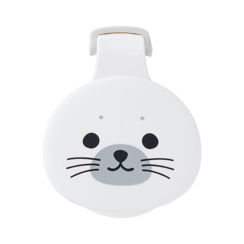 日本文具 LIHIT - 紙膠帶切割器(附磁鐵)-海豹