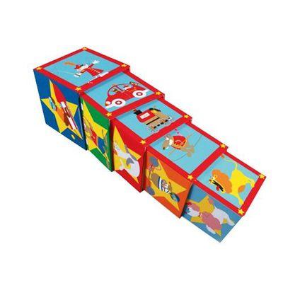 拼圖方塊盒-馬戲團-5個方塊盒