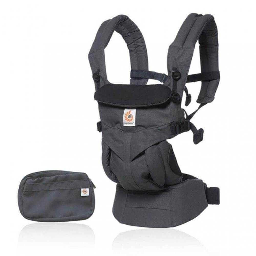 美國ERGObaby - Omni全階段型四式360嬰兒揹巾/揹帶-非透氣款-炭灰