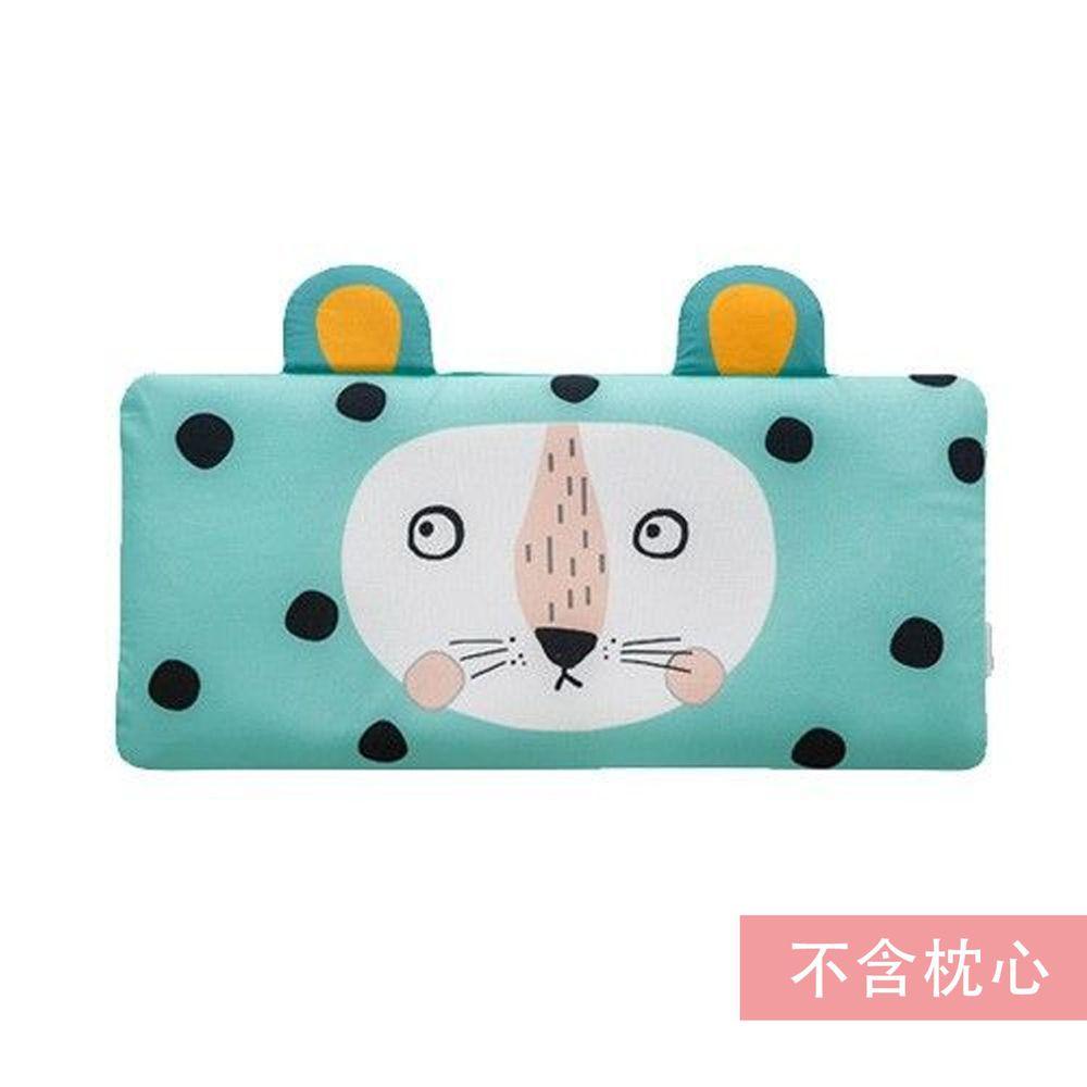 韓國 Bonitabebe - 枕套-三段式可調高兒童涼枕用-薄荷獅子 (59*29cm)